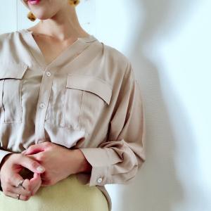 """【GU秋物】オトナ女子におすすめな""""ワークシャツ""""が着回し力高すぎる理由とは?"""