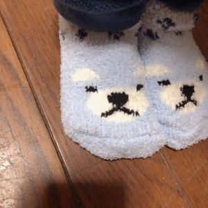 【セリア】キッズ用のふわふわ靴下がかわいいうえに優秀♥