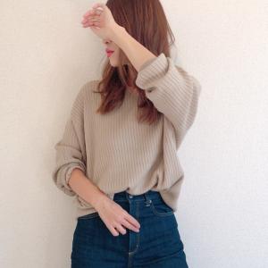 【GU新作】なめらかな肌触りで着やすい♡オシャレなワイドリブニットが大人気!