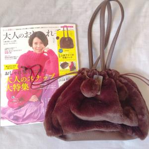 【大人のおしゃれ手帖】1月号の付録が可愛すぎ♥長財布も入るふわふわファーの巾着バッグ