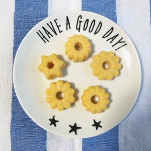 【セリア】のミニドーナツ型で作る「蒸したまご」がかわいすぎ♡これはお弁当に入れたくなる~♡