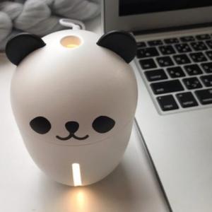 【ダイソー】パンダ型のUSBミニ加湿器がかわいすぎる♡風邪やインフル予防に使いたい♡