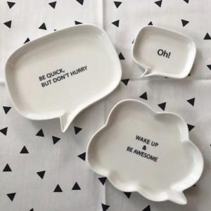 【ダイソー新作】吹き出し型のお皿がかわいすぎる♥