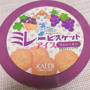 【カルディ】大人気「ミレービスケットアイス」のラムレーズン味がめちゃ美味しい♡