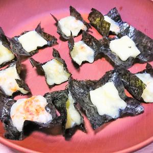 チーズを海苔にのせてレンチンするだけで激ウマのおつまみに!?「パリパリ海苔チーズ」を作ってみた