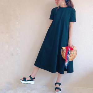 【GU新作】ゆるっと着れる「Aラインワンピース」は可愛いシルエットで大人気の予感♡