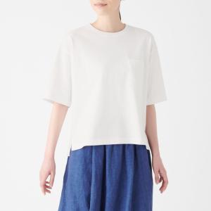 【無印良品】の「太番手天竺編みTシャツ」は厚手で丈夫なのに涼しい♡夏でもサラッと着れる♪