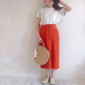 【GU新作】ワッフル素材のスカートが動きやすくて可愛い♡完売前にチェックして!