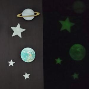 【キャンドゥ】家にいながら宇宙旅行気分!?お部屋をデコる蓄光ステッカーが素晴らしすぎる♪