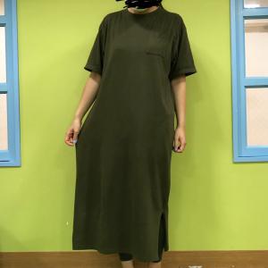 【しまむら】バックプリントが可愛いマキシワンピが税込980円!一着あると結構使える♡