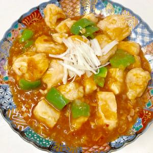 【北斗晶レシピ作ってみた!】エビチリならぬ「鶏チリ」が安価で激ウマ!パサつきがちなむね肉がプリップリ