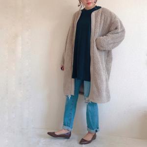 【ユニクロ新作】ゆるっとしたシルエットの「ボアフリースノーカラーコート」が可愛すぎ♡