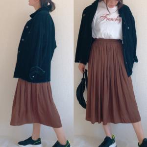 【ユニクロ】「ギャザーロングスカート」が可愛すぎる♡ふんわりシルエットでオールシーズン使える!