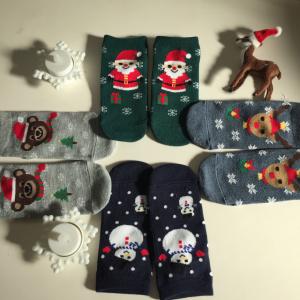 【ワッツ】クリスマス柄のキッズ靴下が可愛すぎる♡4種類もあるからイロチ買いしたくなる♪