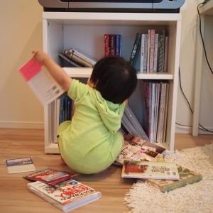 赤ちゃん用の本棚の安全対策|100均でつくるイタズラ防止の目隠しガード