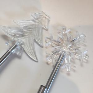 【キャンドゥ】冬verの「ソーラーガーデンライト」はクリスマスの飾りにぴったり♪ツリーに雪の結晶型♡