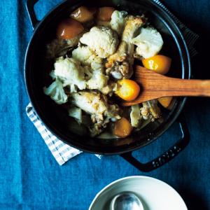 その手があったか…「カリフラワー」レシピ!ピクルス、ポタージュ、「えっ、手羽元と一緒にきんかん煮⁉」