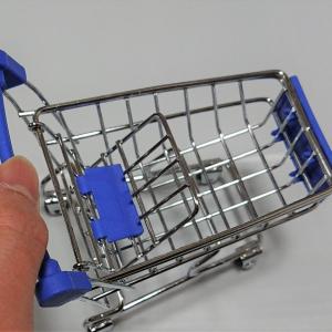 【ダイソー】の「ミニチュアショッピングカート」の完成度が無駄に高い!インテリア小物として使えそう♪
