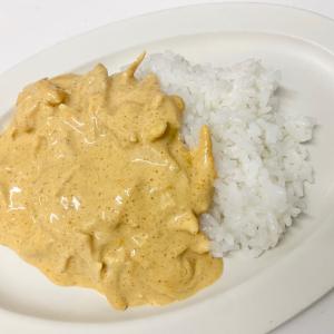 【家事ヤロウレシピ】「バターチキンカレー」が100均食材のみ&フライパンひとつで作れて超美味~♡
