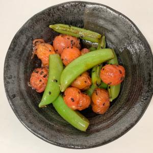 【タモリレシピ 】茹でてあえるだけ!タモさんのフルーツトマトとスナップえんどうのサラダは調味が新しい