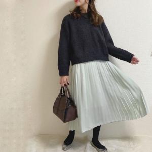 【ユニクロ】軽やかなシフォンプリーツロングスカートが可愛い!アップデートされてさらに着まわしやすく♡