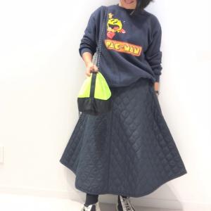 【GU】スタイリスト丸尾のキルティングスカートを使った私服コーデ!全身ワントーンが決め手!