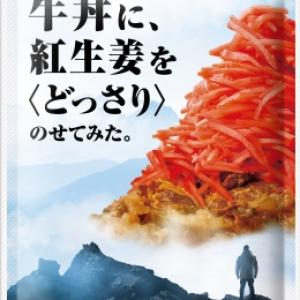 なぜそれ!?「牛丼に、紅生姜を<どっさり>のせてみた」という謎なふりかけが気になって仕方ない