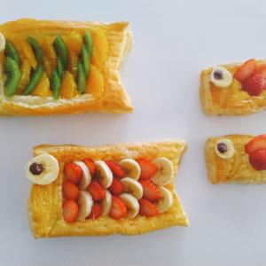 子どもと一緒に作ろう!冷凍パイシートとレンチンカスタードで作る「こいのぼりパイ」