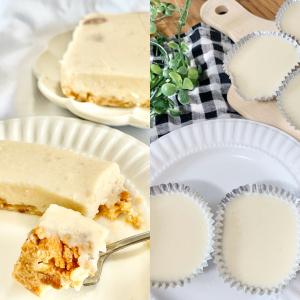 """クリームチーズ&生クリームがなくても電子レンジで簡単に""""レアチーズケーキ""""が作れちゃう!"""
