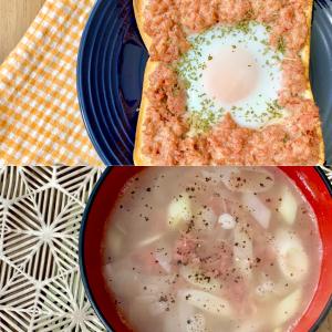 常備したいコンビーフの缶詰。今日のブランチはコンビーフのトーストとスープで決まり