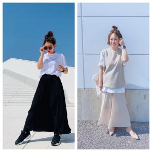 【ユニクロコーデ】今、いち押しのスカートパンツのお手本コーデ12連発!涼しげ&おしゃれで、取り扱いも楽ちん!
