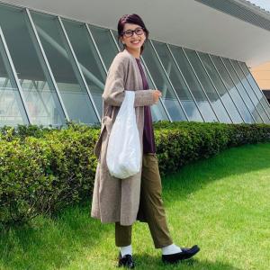 40代の秋アウターはユニクロの「ニットコート」にキマり!体型カバーとおしゃれを両立できます!