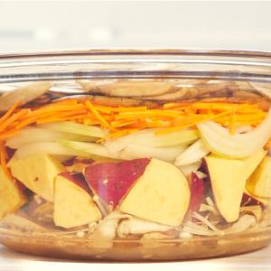 週末にまとめて作る作り置き|絶品さつまいもレシピを伝授!重ね煮で深みのある甘さに