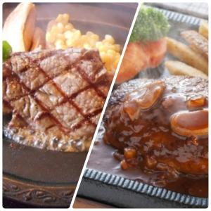 【太らないのはどっち?】「ステーキ」VS「ハンバーグ」ダイエットにむいている肉料理は?