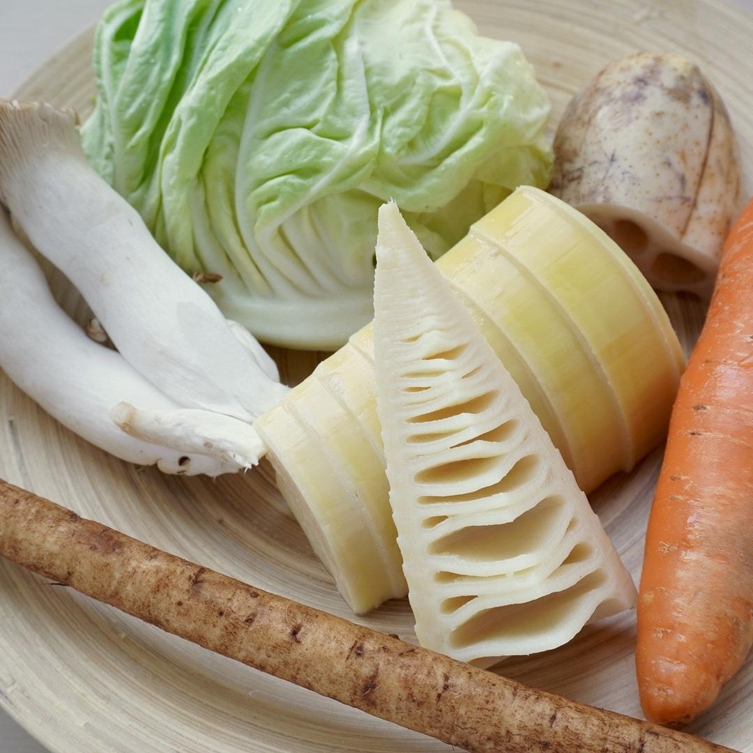 春野菜とじゃこの重ね煮
