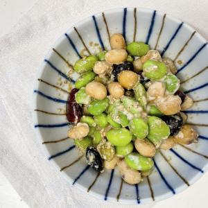 【枝豆の簡単副菜レシピ】茹でるだけに飽きたら!5分で作れる、和えるだけ副菜はいかが?おつまみにもぴったり
