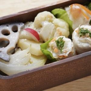 【パパッとカンタンお弁当】 『見た目も栄養も満点!』 重ね煮で時短&簡単 白い野菜のお弁当