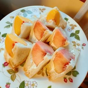 桃でつくる萌え断フルーツサンドが美味!桃の皮をするんっと剥く方法も!#野菜ソムリエいけごまの知恵袋