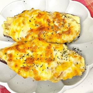 ホワイトソースいらず!丸ごと食べられる「さつまいものチーズグラタン」が家族が喜ぶおいしさ!