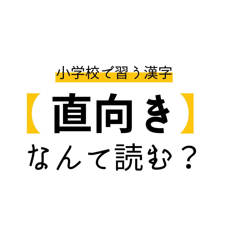 「直向き」なんと読む?