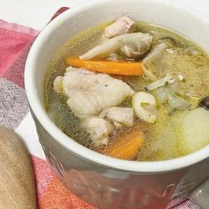 食欲の秋でも罪悪感なし!ヘルシー食材で作る「鶏じゃがののり塩スープ」
