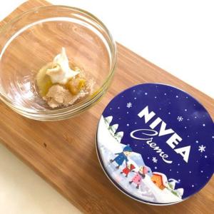 SNSで大人気♡ニベア×砂糖で作る『ニベア青缶スクラブ』が最高らしい。