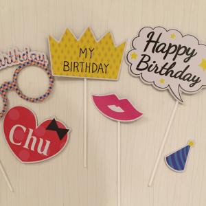 誕生日パーティーを華やかに♡ ダイソーの【フォトプロップス】が可愛くて使える!