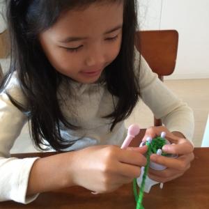 【ダイソー】「毛糸でリリアン」☆100円なのに子どもでも本格的な編み物ができてビックリ!