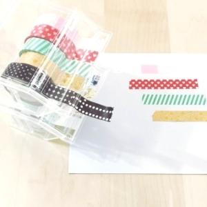 【ダイソー】マスキングテープを使いやすく収納できるクリアケースが超便利☆