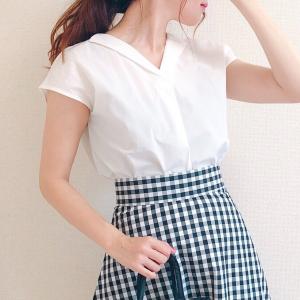 【GU】今なら990円!夏らしいキレイめシャツが高見え♡