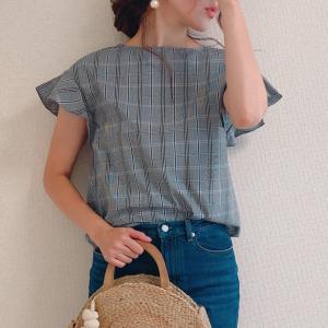 【GU新作】これ一着でよそいきコーデに♡ 今なら1290円のグレンチェックブラウスが可愛すぎる!