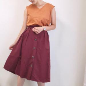 【GU】売切れ必至! トレンドのフロントボタンスカートがふんわりシルエットで高見え♡
