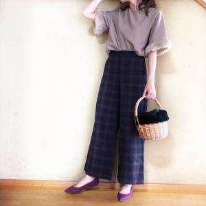【GU新作】タータンチェックのワイドパンツが登場♡シルエットも履きやすさも抜群♡