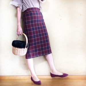 大人可愛い柄で高見え♡ GUのタータンチェックスカートの秋コーデ